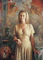 Женский портрет на фоне античной живописи
