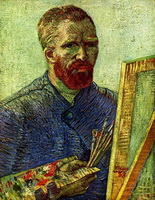 Автопортрет перед мольбертом (В. ван Гог)