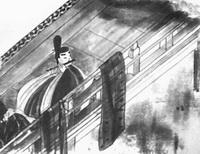 Иллюстрация к роману Гэндзи-моногатари (ок. 1119 г.)