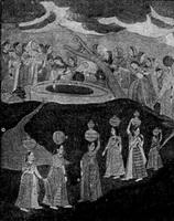 Женщины у колодца (миниатюра 18 века)