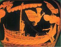 Корабль Одиссея и сирены