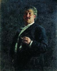 Портрет М.О. Микешина (И. Репин, 1888 г.)